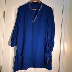 NWT Zac and Rachel Blouse with Adjustable Sleeves